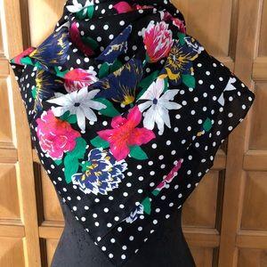 JULY 4TH SALE Vintage Ginnie Johansen Floral Scarf